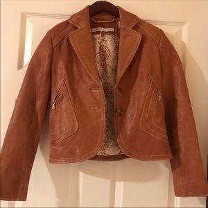 NWOT Brown leather jacket